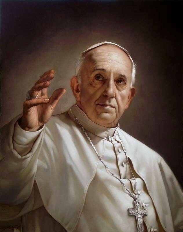 Painting of Pope Francis