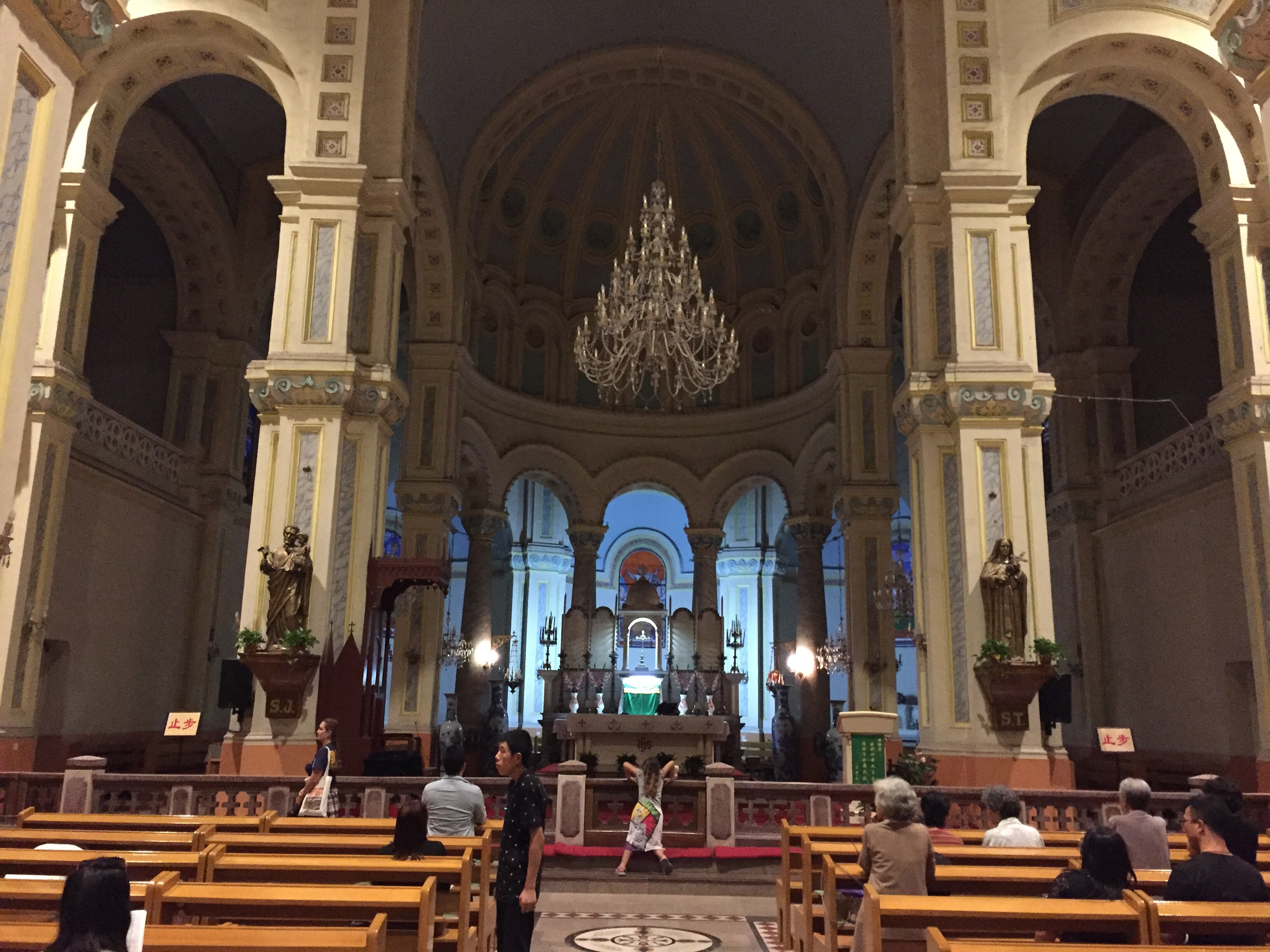 View of the Altar Inside the Tianjin Cathedral